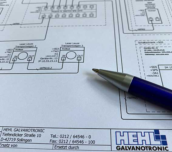 Hehl Galvanotronic schematic